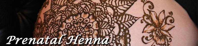 prenatal henna, baby belly henna