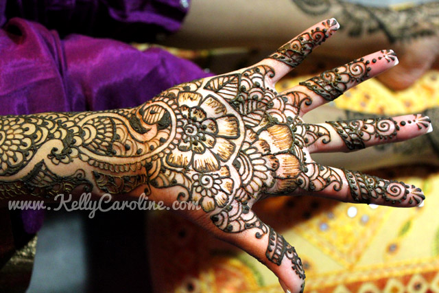 Wedding henna, hand