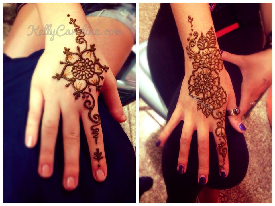 Mehndi Flower Designs For Hands : Mehndi traditional kelly caroline