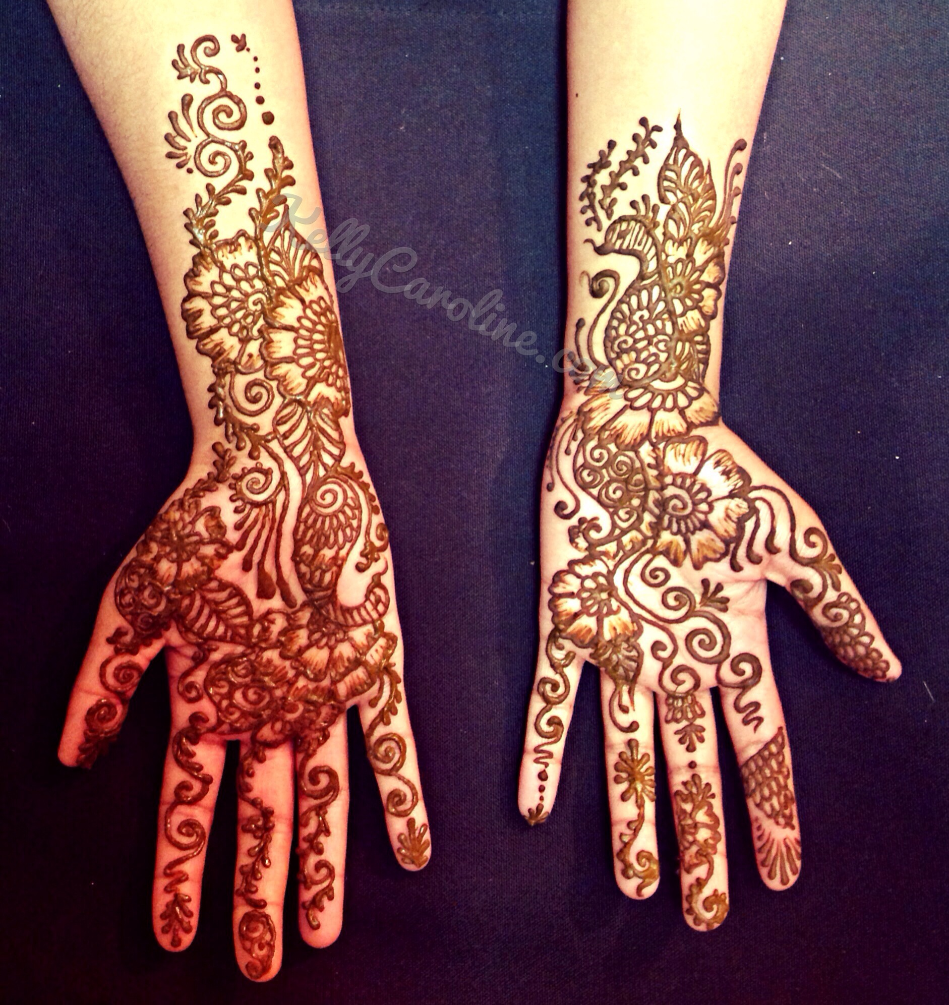 henna for weddings, sister of the bride, henna design, henna on palms