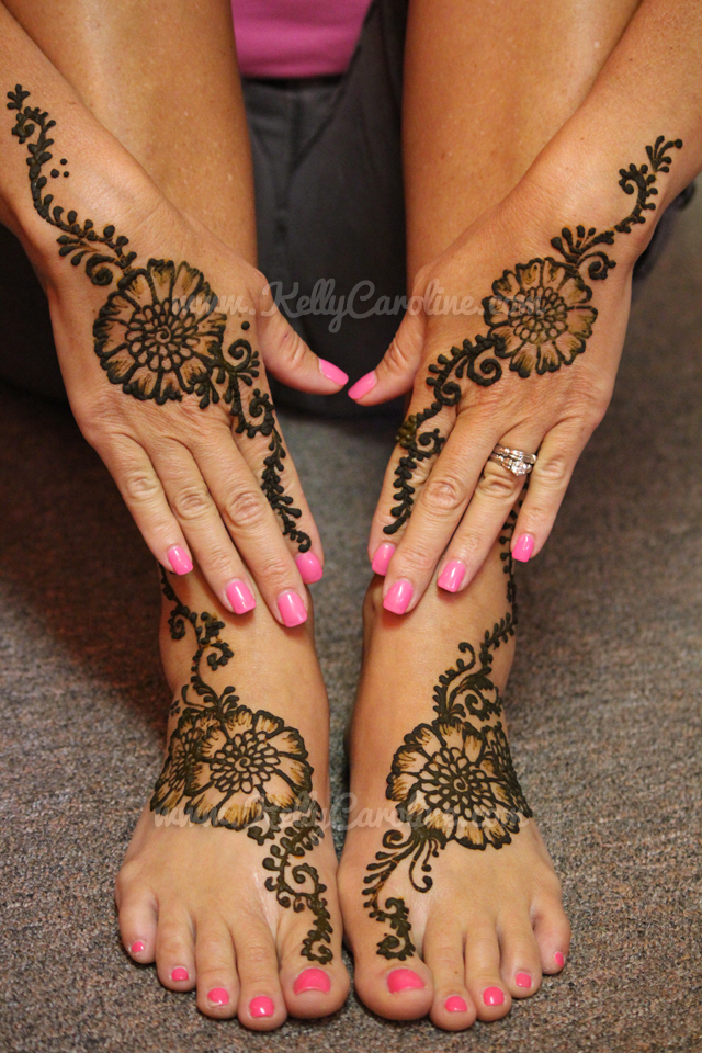 henna on hands, feet, manicure, henna party, pedicure