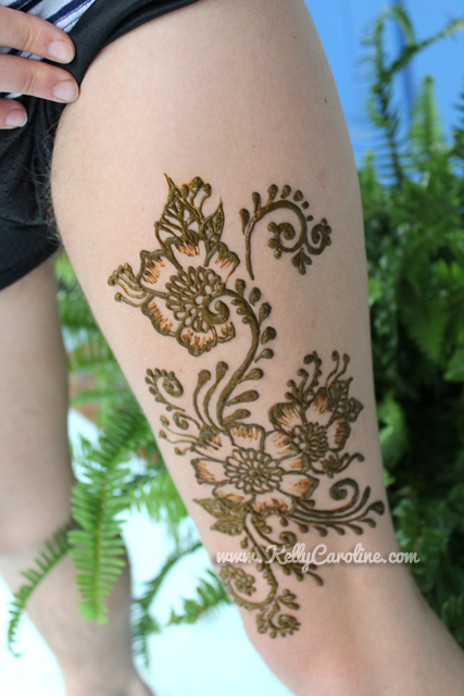 sexy henna, sexy henna design, henna design on thigh, henna on thigh, henna design