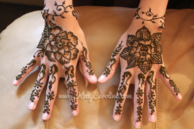 vine and floral henna, henna on hands, vine henna, birthday party henna, wrist tattoo