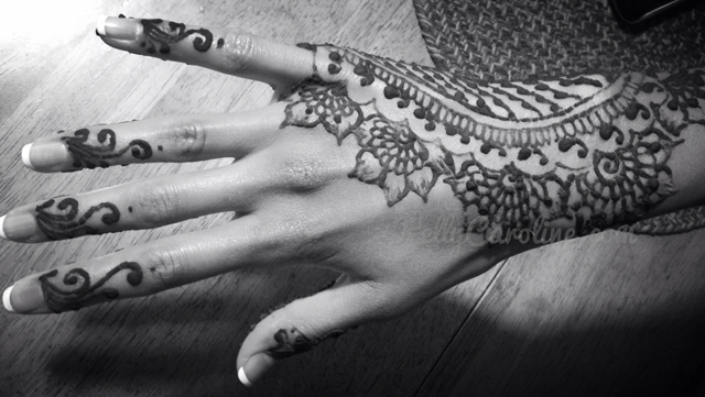 Wedding henna, fusion Indian wedding