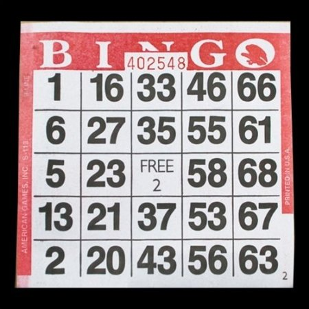 disposable bingo cards