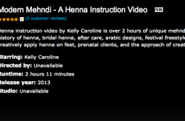 Modern Mehndi – Henna Instruction Video now on Amazon Stream !