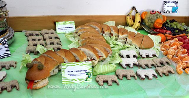 snake sandwich , elephant sandwiches