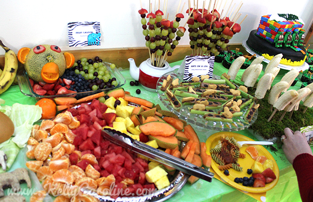 safari party, fruit lagoon, food ideas, birthday party