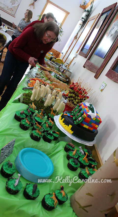 food table, safari party, dessert table