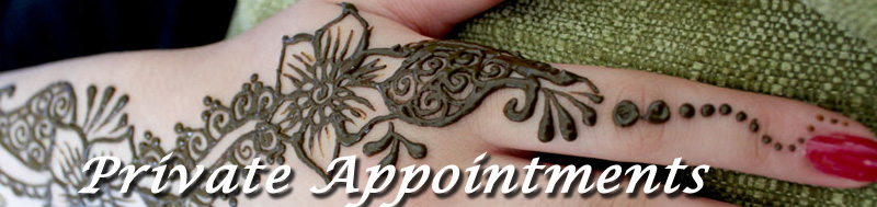 private appointments, henna artist, henna tattoo michigan