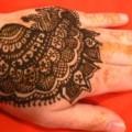 Henna hand checkered design