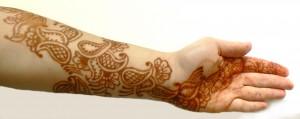 Henna on my arm