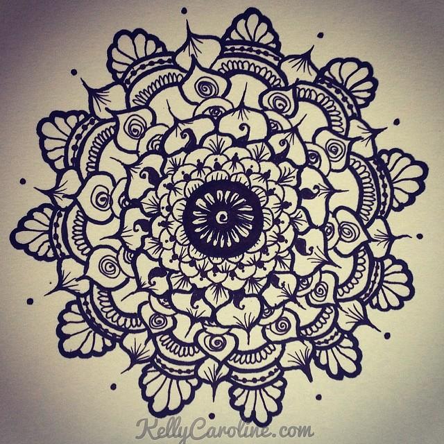 Mehndi Flower Drawing : Morning mandala drawing henna art