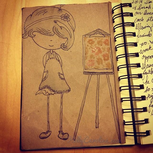 """Glad you like it"" #watercolors #drawing #kellycaroline #ink #brown #paper  #paperbag #recycle #reuse #art #artist #flowers #painting #paints #ypsilanti #michigan"