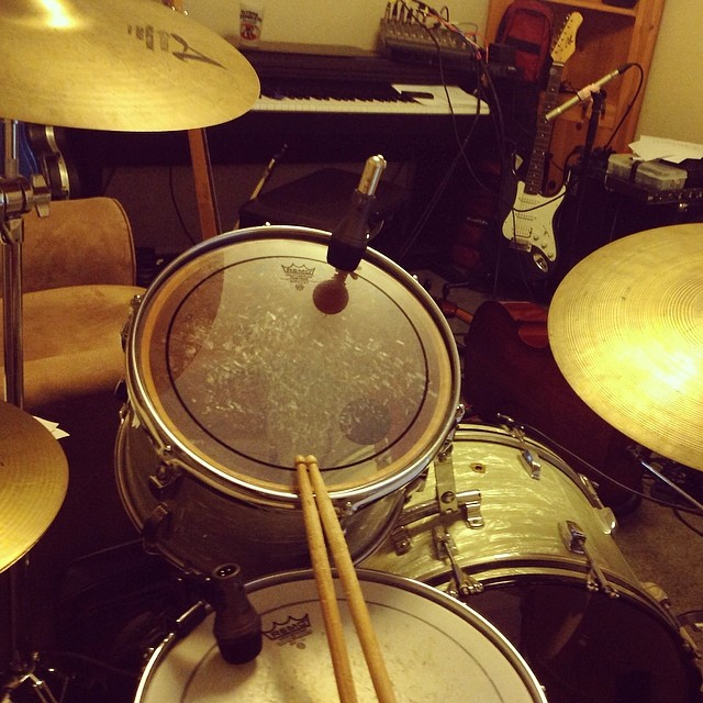 """My view at practice .. This is what I do while everyone figures out their """"chords"""" ."""