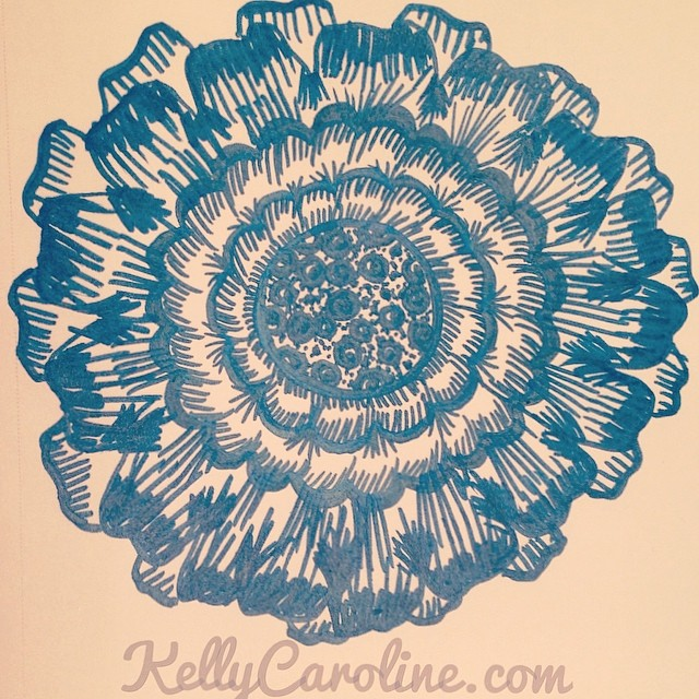 Blue Henna mandala design. Would make a pretty tattoo.#henna #mandala #tattoo #tattoos #tattoodesign #artist #art #blue #mehndi #sketch #sketchbook #design #flowers #drawing #markers #pen #paper #kellycaroline #ypsi #ypsilanti #michigan