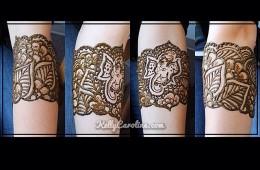 Wedding Ganesh henna cuff for a wonderful girl!