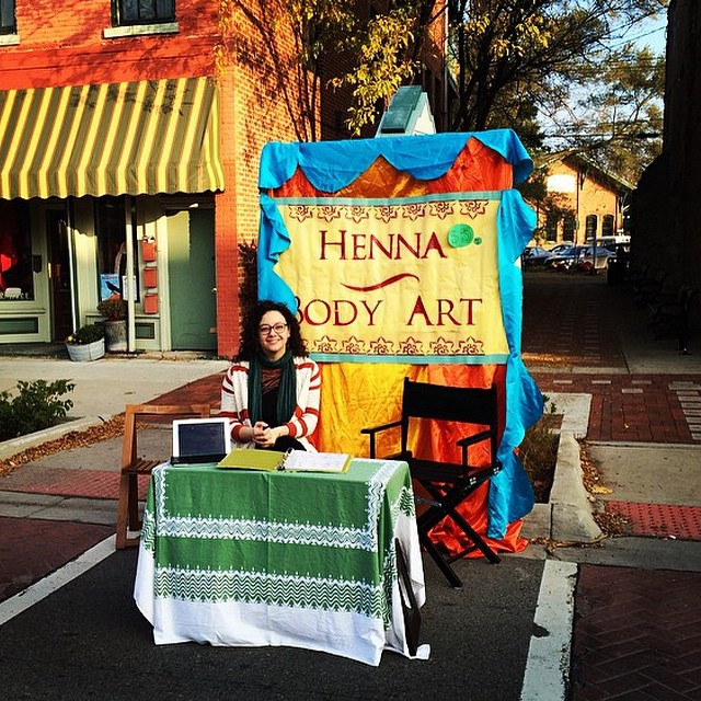 Depot Town Heritage Festival – Henna booth setup
