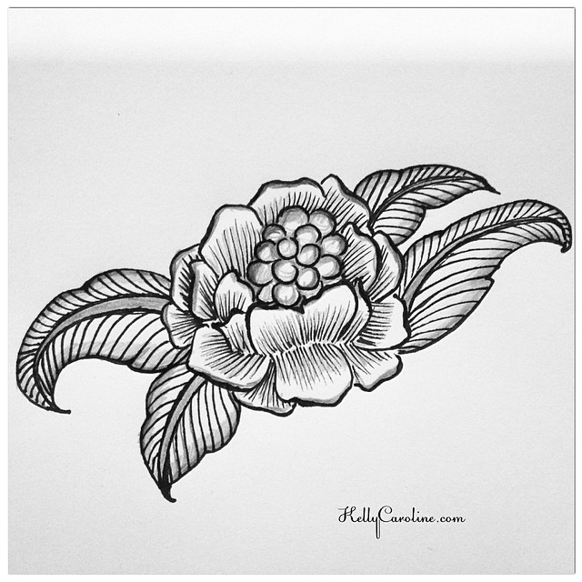 a new black and white flower drawing#drawing #art #artist #tattoo #tattoos #tats #kellycaroline #henna #hennadesigns #hennatattoo #style #flowers #floral #blackandwhite #black #white #sketch #sketchbook #ypsi #ypsilanti #michigan #design #leaves #peony