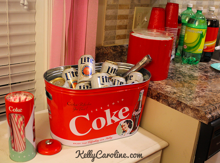 drink station for 1950s party