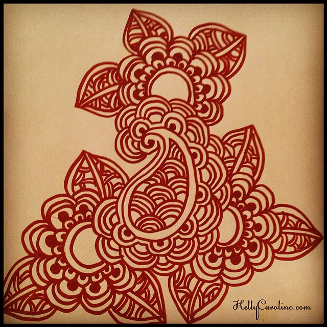 A quick henna sketch - a little something different #henna #hennaartist #hennatattoo #hennatattoo #draw #drawing #ypsi #ypsilanti #michigan #kellycaroline #art #artist #artwork #marker #paper #paisley #maze #flower #sketch #sketchbook