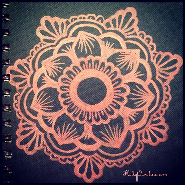 I drew a design on the sketchbook gift I'm giving a dear friend . #henna #mehndi #kellycaroline #ypsi #ypsilanti #michigan #gifts #gift #design #marker #sketch #sketchbook #art #artist #artwork #mandala #floral #motif #draw #drawing #black #pink #shimmery #inspire @art_we_inspire