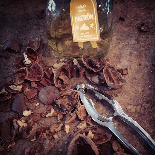Winter has begun #walnuts #pecans #nutcracker #nuts #food #snacks #winter #snow #michigan #ypsi #ypsilanti #tequilla #patron