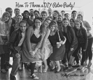 Diy retro 1950s party ideas