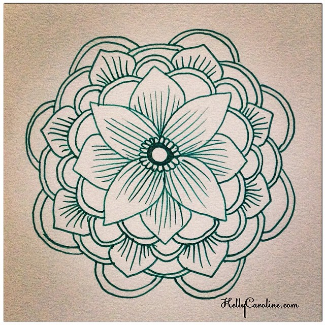 A quick sketch - henna style mandala that I just had to draw because I get in the mood to create SOMETHING, even if I don't have a lot of time- just SOMETHING has to be created  #quicksketch #sketchbook #sketch #art #artist #mandala #symmetry #kellycaroline #henna #hennaartist #hennatattoo #hennainspire #floral #flower #flowers #draw #drawing #green #gelpen #paper #tattoo #tattoos #tattoodesign #tattooideas #ypsi #ypsilanti #michigan