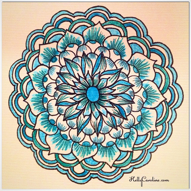 Happy new year! Here's a fresh Henna style mandala to kick off 2015 @art_we_inspire