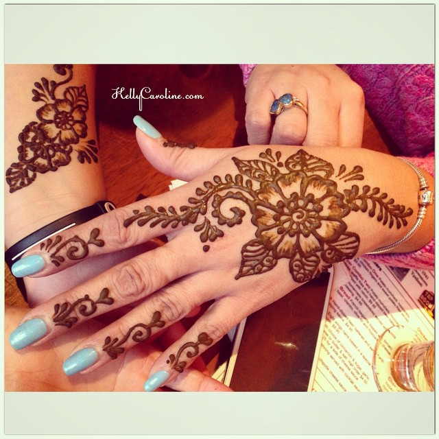 Lovely henna clients today – getting henna designs for a girls night out