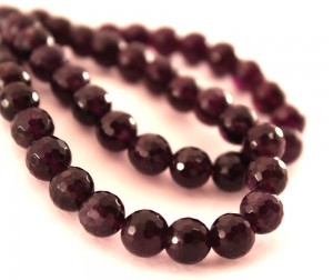 faceted, dark purple amethyst, jewelry supplies, etsy, world of rocks