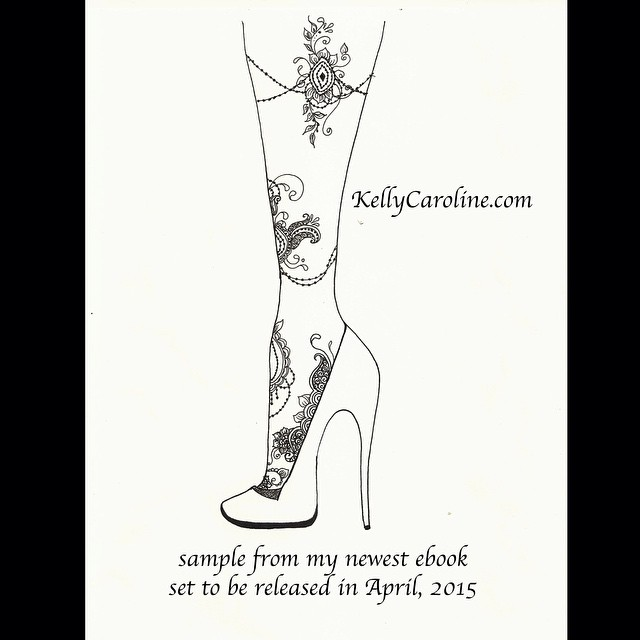 ️️update️️ my newest henna design ebook is set to be released this April! Here's a sneak peek at one of my newest designs. #henna #hennas #hennaartist #ebook #design #tattoo #tattoos #tattoodesign #mehndi #kellycaroline #amazon #leg #foottattoo #mandala #highheel #shoes #michigan #ink #art #artist