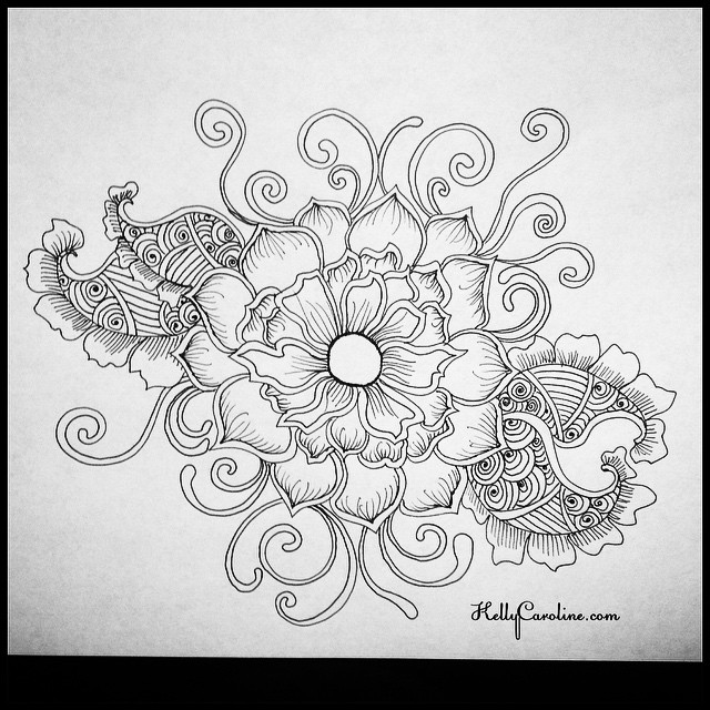 Another sneak peek at my newest henna tattoo ebook to be published this April ️️ This is a different change of pace from symmetry. This is more of an organic flower shape.