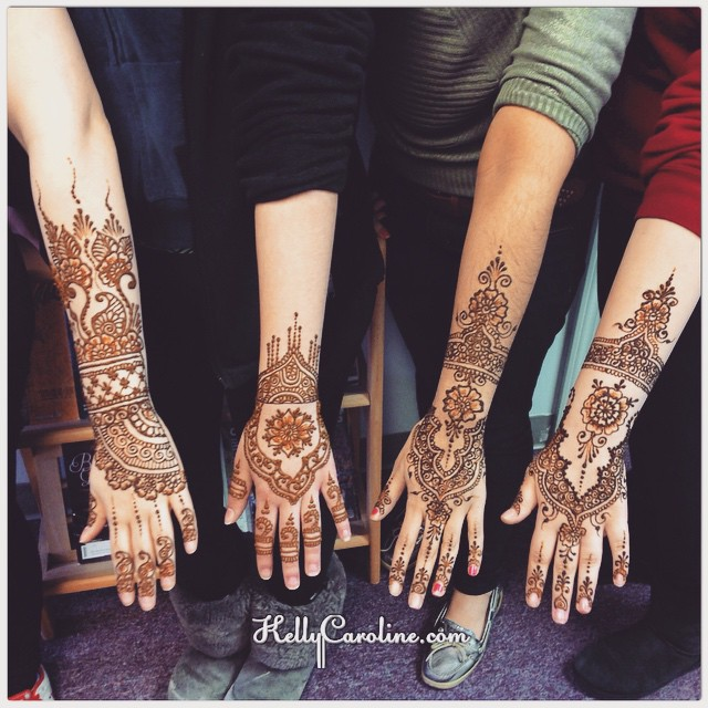 Had a lovely group of ladies at the salon today & the henna designs they chose were excellent. These designs are all based off other henna work found online – not sure of the sources. Which of these henna designs would YOU choose??