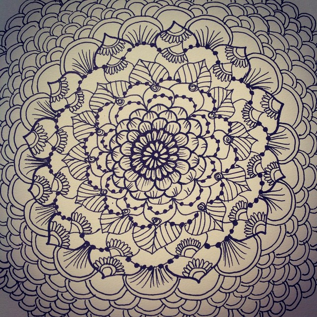 (( Mandala for dayzz )) I love to draw mandalas for a number of reasons but mainly because its excellent practice for henna tattoo designs and because its so relaxing. ️ #henna #hennas #tattoo #tattoos #tattoodesign #design #detroit #ypsi #ypsilanti #michigan #mandala #mehndi #kellycaroline #drawing #art #artist #blackandwhite #ink #pen #paper #sketch #flower #flowers #michiganinstagrammers #circles #relax