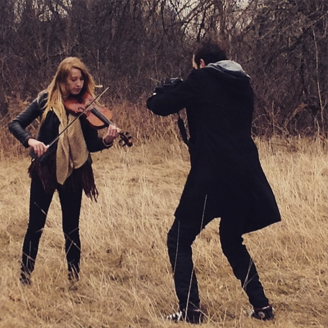 New music video coming soon!! ️️ #violin #music #musicvideo #slr #camera #winter #trees #forest