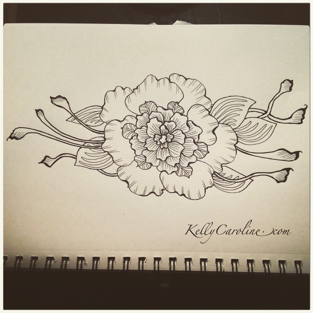 Peaceful floral drawings today..