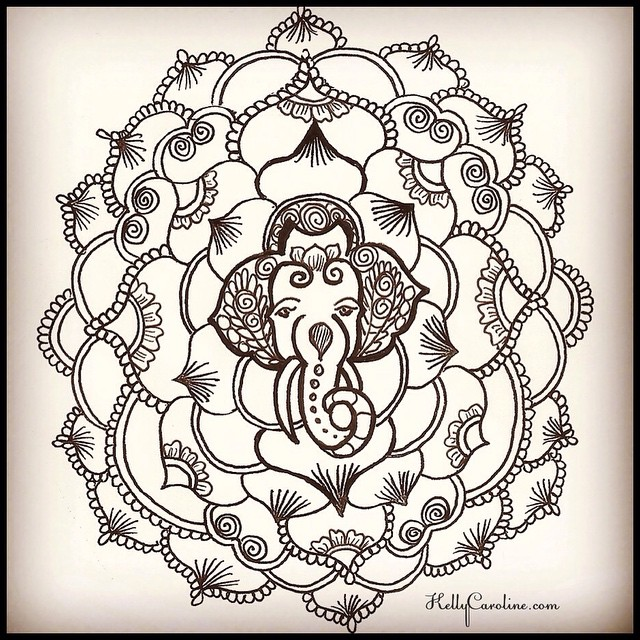 This is a custom design Elephant mandala tattoo for a yoga teacher who wanted me to design a permanent tattoo for the top of her foot. Her specifications were something with an elephant & circular. What do you think? #elephant #mandala #henna #tattoo #tattoos #tattoodesign #art #artist #kellycaroline #michigan #yoga #ypsilanti #yogi #ypsi #annarbor #hindu #design #detroit #teacher #custom #mehndi #ink #india #paper