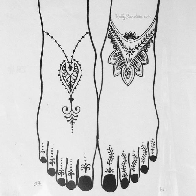 Feet henna tattoos