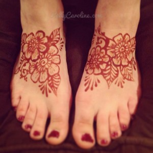 Henna stain - after paste removal , henna tattoo foot drawing design, kelly caroline henna artist michigan