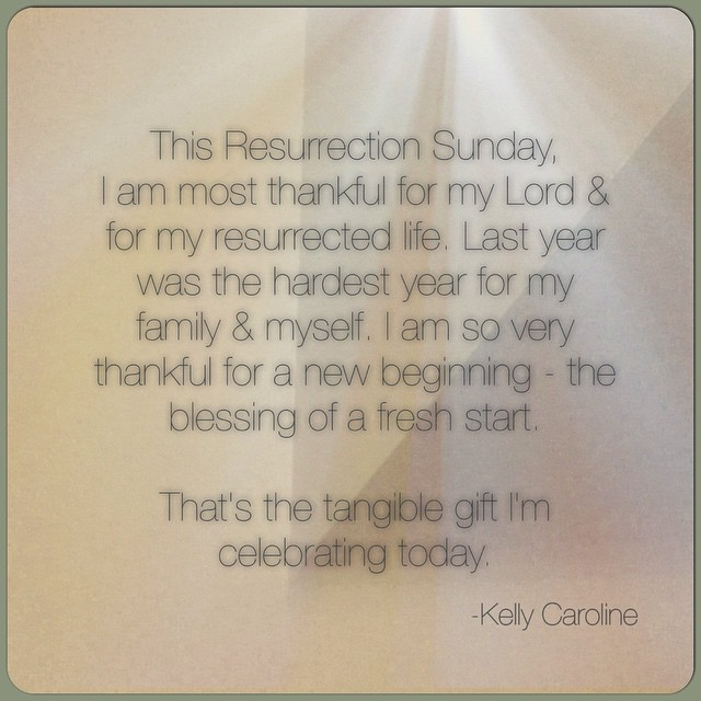 The tangible gift I am celebrating today is my new start. I believe it is important to not just have theological convictions but to also know what physical difference your beliefs make in your life. #thankful #God #Jesus #resurrection #life #theology #celebration #fresh #new