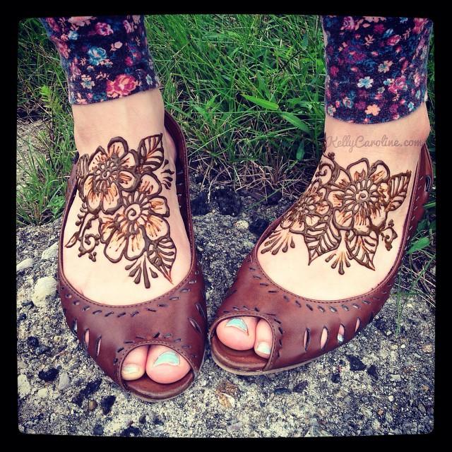 Feet And Leg Henna Designs Kelly Caroline