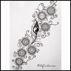 chakra symbols, tattoo design, chakra tattoo, peacock feather tattoo, tattoo designs, kelly caroline, michigan henna, henna artist michigan, henna michigan