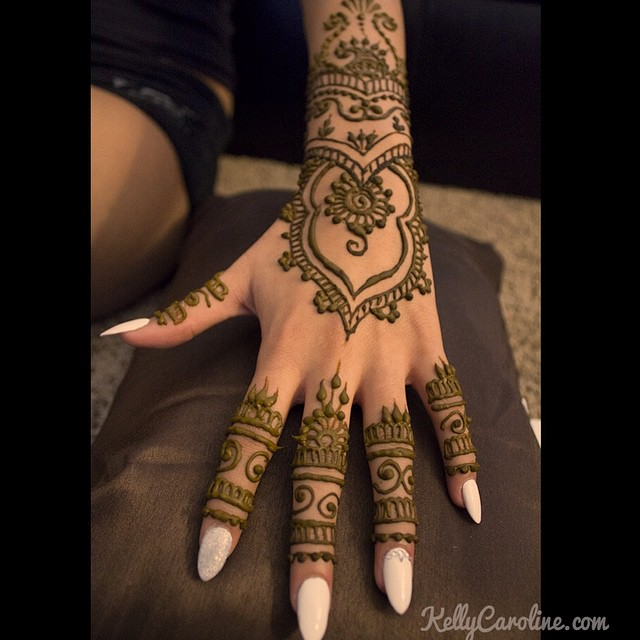 Wedding Henna on the top of a hand for a lovely bride - I really loved her stiletto nails, too. #henna #hennas #hennaartist #mehndi #india #kellycaroline #michigan #artist #art #tattoo #tattoos #wedding #bride #bridal #manicure #stiletto #nails #ink #pretty #design #hennaartist