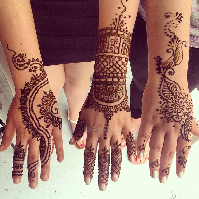 Mehndi Tattoo Artists : Party henna gallery kelly caroline