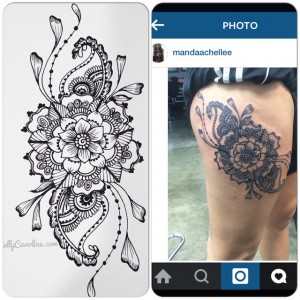 henna style tattoo, tattoos, tattoo design, floral henna tattoo, mandala henna