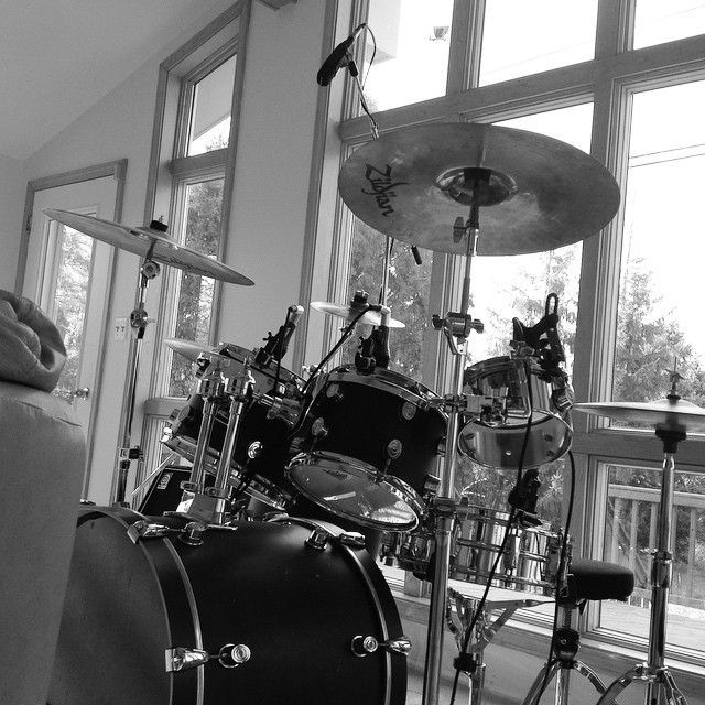 Recording day.. #drums #drumming #drummer #drum #music #recording #musicians #musical #blackandwhite #zildjian #cymbal #cymbals #brass #metal #michigan