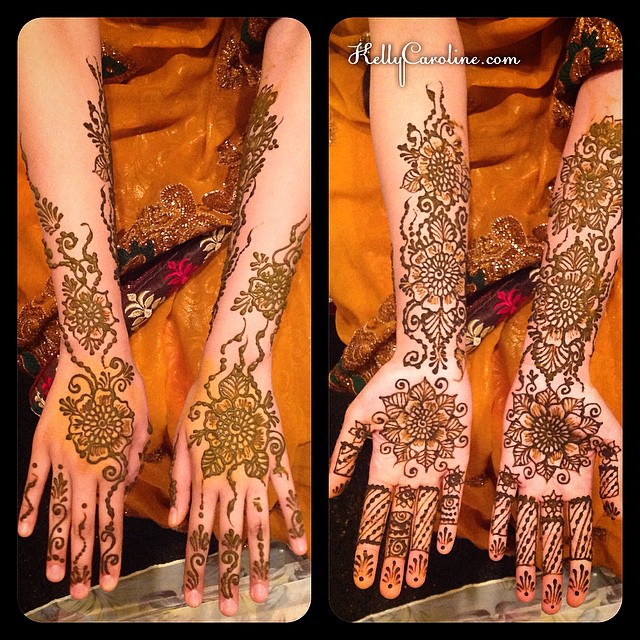 Bridal mehndi for a lovely bride that I have had the pleasure of doing henna for twice – once for a traditional ceremony and now again a year later for her wedding celebration