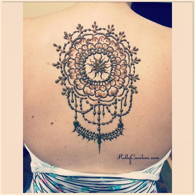 Henna for my sister in law tonight for her trip to Florida ️ #backtattoo #henna #hennas #tattoo #tattoos #shouldertattoo #ink #india #mandala #kellycaroline #michigan #hennatattoo #hennaartist #ypsi #ypsilanti #jewelry #summer #organic #yoga #yogi